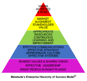 Metattudes Enterprise Hierarchy of Success Model
